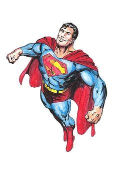 Superman (Watercolor) (Acuarela) José Martín