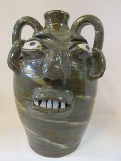 North Carolina Pottery, BB Craig Face Jug