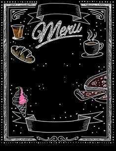 Cafe Menu Design, Menu Card Design, Food Menu Design, Food Poster Design, Baking Wallpaper, Cake Wallpaper, Baking Logo Design, Fond Design, Bakery Decor