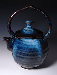 James Diem |  Teapot. Unusual shape, gorgeous colour.