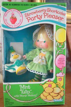 Mint Tulip Party Pleaser Strawberry Shortcake 1983 Mint in Box-Rare Strawberry Shortcake Characters, Vintage Strawberry Shortcake Dolls, Strawberry Shortcake Party, 90s Childhood, Childhood Memories, Patch Kids, Retro Toys, Classic Toys, Old Toys