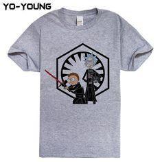881dc7de328 Rick And Morty Men T-shirts Dragon Balls Star Wars Funny Design Digital  Printing 100