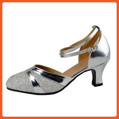 Latin shoes/Modern shoes/Square dance shoes/Ballroom Dance Shoes-A Foot length=24.8CM(9.8Inch) - Athletic shoes for women (*Amazon Partner-Link)