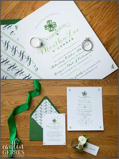Shamrock Bridal Shower Invitation - St Patrick's Day Irish theme