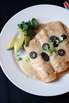 Creamy Turkey Enchiladas | Good Cheap Eats - a great way to use up leftover turkey. Other meats work, too, like chicken or pork. You can also use a cheese or vegetable filling. It's so versatile and so good!