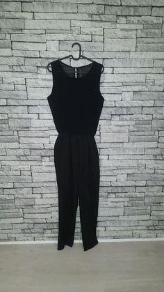 f22baf78293e Size Large UK 12 14 Zara Black Full Length Sheer Sleeveless Jumpsuit Romper   fashion