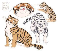 66 Best Ideas For Wild Animal Art Tigers Cute Animal Drawings, Cute Drawings, Drawing Animals, Art And Illustration, Animal Illustrations, Pretty Art, Cute Art, Bel Art, Art Du Croquis