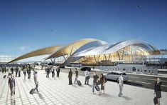 twelve architects win bid to build yuzhny greenfield airport in rostov province, russia - designboom | architecture & design magazine