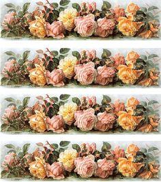 Decoupage Vintage, Vintage Diy, Shabby Vintage, Vintage Labels, Vintage Cards, Vintage Paper, Vintage Flowers, Vintage Images, Decoupage Printables