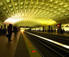 Washington DC subway (lived there for 4 years) still love the flashing lights when the train approaches.