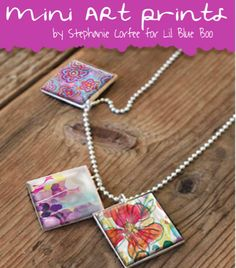 Free Inchies Printable for Jewelry, glass tile pendants from Lil Blue Boo, featured @printabledecor1