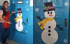 Boneco de Neve Para Porta Em Papel – Material e Vídeo Advent Calendar, Holiday Decor, Home Decor, Christmas Decor, Decorated Doors, Kids Room, Snowman, Decoration Home, Room Decor