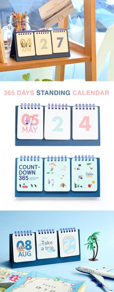 A calendar that will last you years and years to come? Yes, please! The 365 Days Standing Calendar features flip sections that make the calendar super versatile. Use it to display the date, countdown to an important event, or display encouraging messages! You and your desk deserve a calendar this cute!