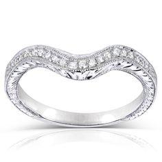 <li>Contour wedding band set in 14-karat gold.</li><li><a href='http://www.overstock.com/downloads/pdf/2010_RingSizing.pdf'><span class='links'>Click here for ring sizing guide</span></a></li>