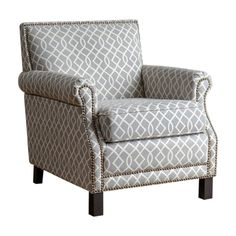 Add a new accent to your living room or home office with the Abbyson Dixon Trellis Club Chair . This arm chair features soft linen upholstery with a subtle. Grey And White Cushions, White Chairs, Leather Furniture, Leather Chairs, Leather Sofas, Leather Recliner, Antique Furniture, Furniture Ideas, Furniture Design