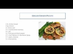 HCG diet chicken recipes: Chicken Piccata with Roasted asparagus and Yummy Dessert Meal recipe - go4hcgrecipes.com