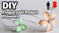 wire flowers with nail polish - YouTube