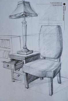 112 DIY Ideas For Transforming Bathroom Decorating – Page 6 – icanpinview Drawing Interior, Interior Design Sketches, Drawing Sketches, Pencil Drawings, Art Drawings, Sketching, Drawing Furniture, Furniture Sketches, Object Drawing