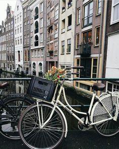 Anne fietste altijd met haar vriendinnen.