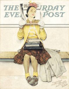 Girl reading the post, Norman Rockwell