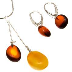 Ezüst nyakék és fülbevaló szett borostyán kővel /76299/ Drop Earrings, Personalized Items, Jewelry, Jewlery, Jewerly, Schmuck, Drop Earring, Jewels, Jewelery