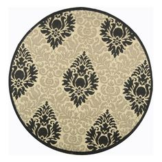 Safavieh cy2714 3901 5r courtyard indoor outdoor area rug sand black