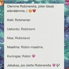 Mun kingi @robinpackalen