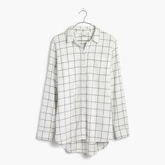 Madewell Flannel Classic Ex-Boyfriend Shirt In Windowpane