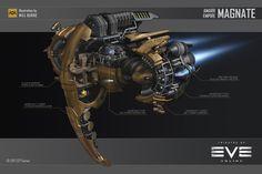 ArtStation - Amarr Magnate, Will Burns Spaceship Design, Spaceship Concept, Concept Ships, Eve Online Ships, Cyberpunk Character, 3d Character, Character Concept, Robot Technology, Technology Gadgets