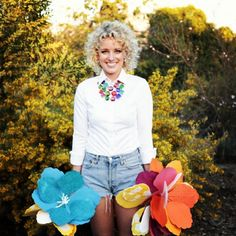 http://camcountry.com/ #camcountry #denimshort #paperflowers #camyellow <3