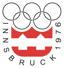 Logo for the Olympic Winter Games in Innsbruck, 1976.  Innsbruck stepped in as host after Denver turned down the Games.
