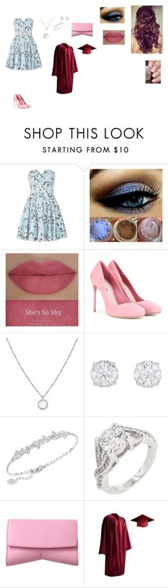 """Graduation"" by natalia-alve-niel ❤ liked on Polyvore featuring TFNC, Retrò, Miu Miu, 1928, Swarovski and Narciso Rodriguez"