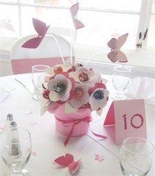 Personalized  Lollipop Flowers & Butterflies - Lollipop Centerpiece with Butterfly Table Decorations $56.00
