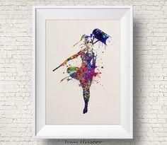 Harley Quinn inspired Watercolor Print Art Print by IvanHristov