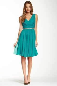 Marchesa Notte Embellished Silk Cocktail Dress by Marchesa on Pretty Outfits, Pretty Dresses, Beautiful Dresses, Teal Dresses, Pretty Clothes, Fancy Gowns, Cute Fashion, Women's Fashion, Kinds Of Clothes