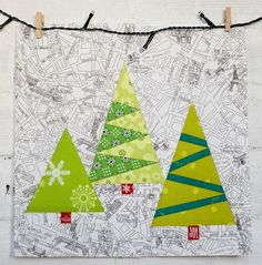 Paper Pieced Christmas Trees - Christmas sewing means learning how to make free quilt patterns that feature all of your favorite holiday characters and motifs. Get started with sewing up some cheer when you download the free printable quilt block pattern for the Paper Pieced Christmas Trees. This modern quilting pattern is an adorable way to add some stylish holiday quilting cheer to your own.