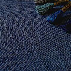 Xylem - Indigo, Ian Sanderson Upholstery and Curtain Fabrics