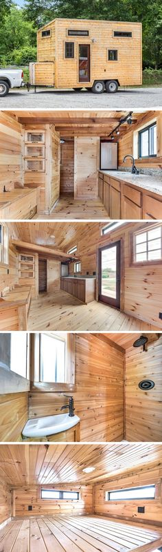A 144 sq ft cedar tiny home