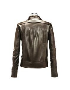 Dark Brown Italian Leather Motorcycle Jacket