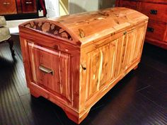 You are viewing a handmade 100% aromatic cedar wood chest with the option of custom pyrography art. All solid wood, no veneers used here. Domed