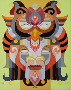 "Fernando Chamarelli - Sabedoria - Acrylic on canvas - 15.75"" × 19.75"" -  40×50cm - 2015"