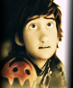 Terrified adult Hiccup, sweet!
