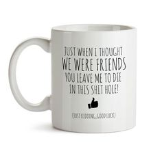 Coworker Leaving Gift Funny Good Bye Gift For Colleague Mug Farewell Gift For Coworker Friend Bye Gift For Coworker Departing Gift Mug Goodbye Gifts For Coworkers, Gifts For Colleagues, Gifts For Boss, Gifts In A Mug, Gifts For Friends, Goodbye Coworker, Sister Gifts, Gag Gifts, Farewell Gift For Coworker