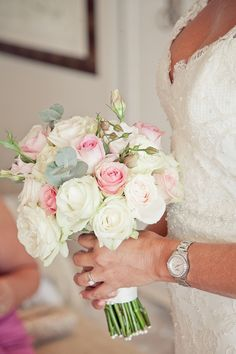 Soft pink bouquet for Greek Orthodox Wedding in South Africa - photos by Du Wayne Photography | junebugweddings.com