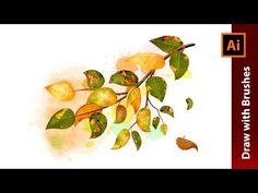 Create an Autumn Illustration with Birch Leaves Brushes in Adobe Illustrator - YouTube