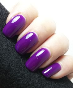 A beautiful purple jelly polish that dries to a matte finish. If you don't like matte polishes, don't turn away from this one. Just add a top coat for gorgeous shine that also brightens the color!First photo is three coats with  top coat. Second photo shows three coats with no top coat to show you the matte finish.If you love the color, but you just wish it had glitter