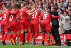 Daniel Sturridge's early header was enough to secure Liverpool's Barclays Premier League victory over Manchester United at Anfield. Liverpool Football Club, Liverpool Fc, Football Squads, Liga Premier, Brendan Rodgers, Barclay Premier League, You'll Never Walk Alone, Soccer Shoes, Tottenham Hotspur