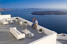 Champagne Lounge at Grace Santorini.