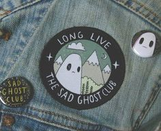 Cute Iron-on Patches - The Sad Ghost Club Cute Patches, Pin And Patches, Iron On Patches, Diy Patches, Elbow Patches, Grunge Goth, Stickers, Moda Punk, Foto Casual