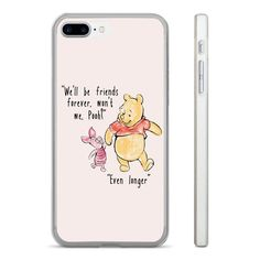 £2.99 GBP - Winnie The Pooh Friends Hard Clear Phone Case Cover Fits Iphone 5 6 7 8 (Ht) #ebay #Electronics